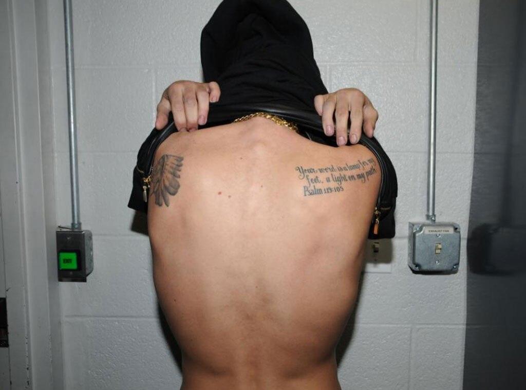 221cb1acf Rear Shot from Justin Bieber's Many Tattoos | E! News