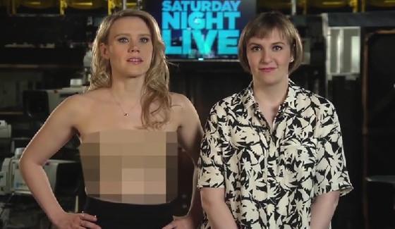 Lena Dunham, Kate McKinnon, SNL