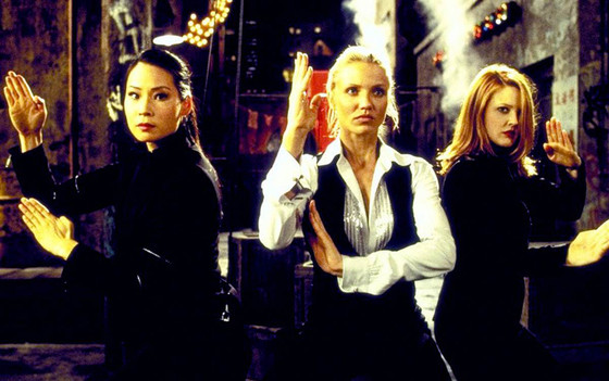 Charlie's Angels, Drew Barrymore, Lucy Liu, Cameron Diaz, Famous Movie Heroines