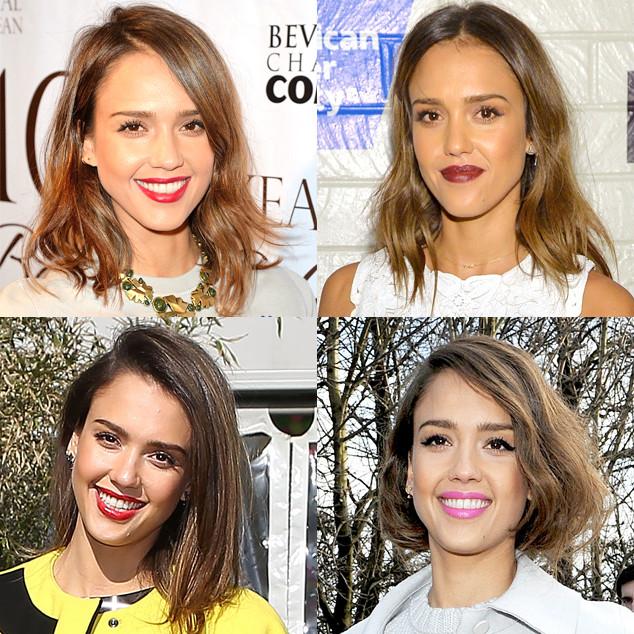 Spring Haircuts, Jessica Alba