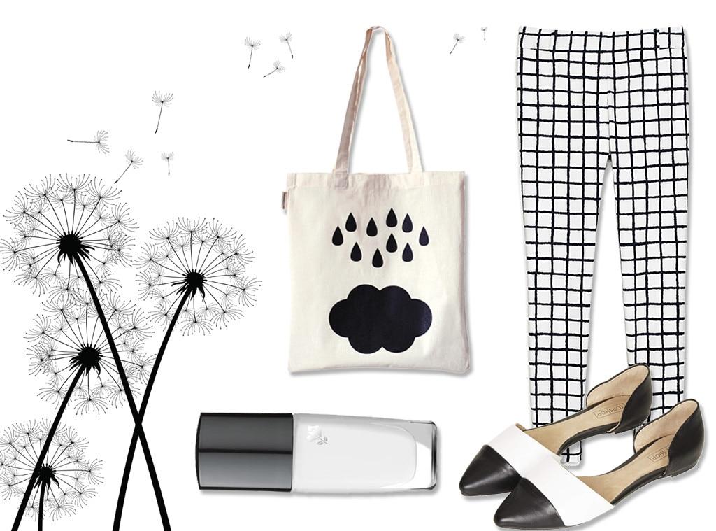 Spring Colors, Black + White