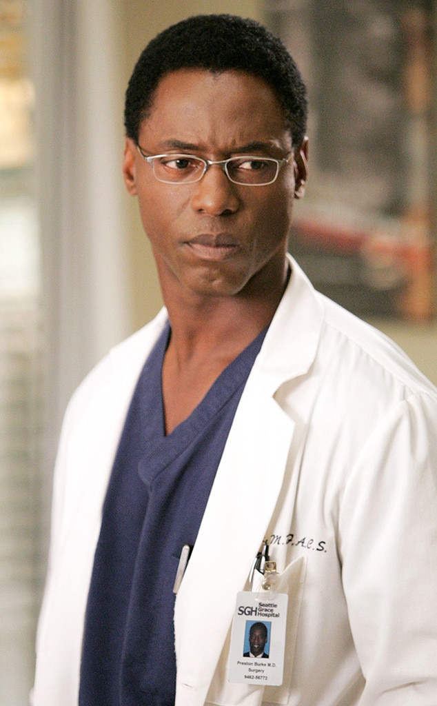 Isaiah Washington as Preston Burke -  In season three, Burke abandoned Cristina at the altar and then just took off, eventually winning a Harper Avery award elsewhere and then at some point, moving to Zurich, Switzerland to open his own hi-tech hospital. He got married, started a family, and then in season 10, he invited Cristina to his hospital to take it over for him as he retired.