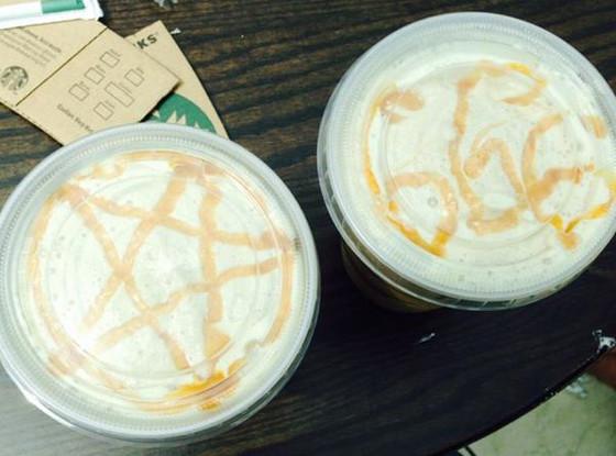 Starbucks, 666, Pentagram