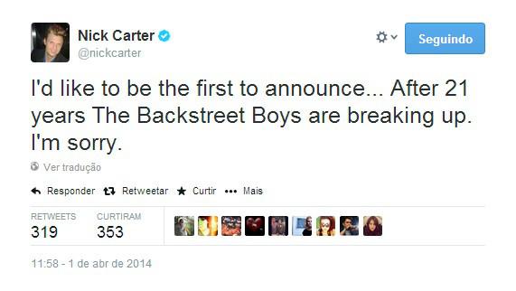 Nick Carter Twitter
