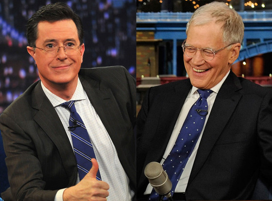 Stephen Colbert, David Letterman