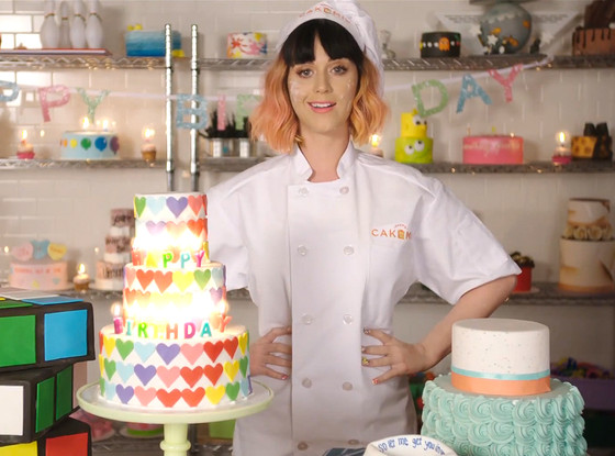 Stupendous Watch Katy Perrys Birthday Lyric Video E News Personalised Birthday Cards Veneteletsinfo