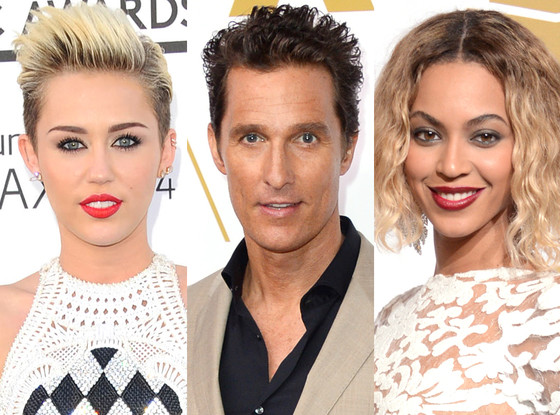 Miley Cyrus, Matthew McConaughey, Beyonce