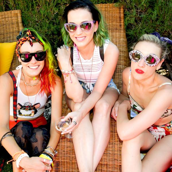 Katy Perry, Mia Moretti, Chloe Norgaard, Coachella