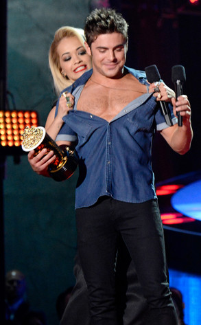 Zac Efron, Rita Ora, MTV Movie Awards