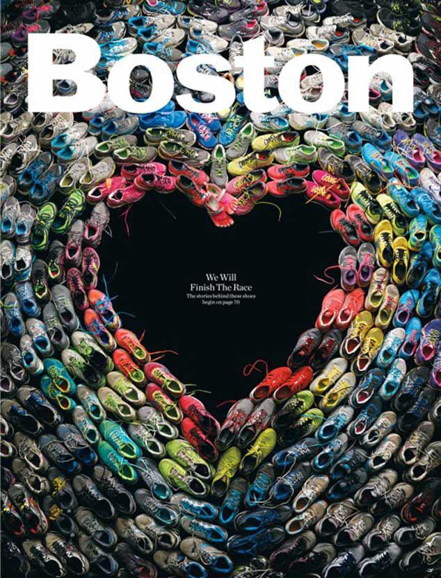 Boston Magazine, Boston Marathon Shoes Heart