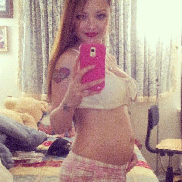 Tila Tequila Baby Bump