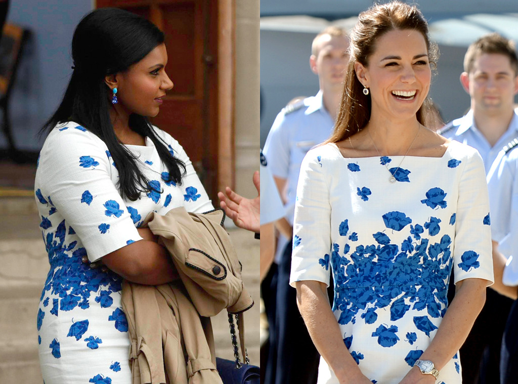 Kate Middleton Wears Mindy Kaling S Dress E Online