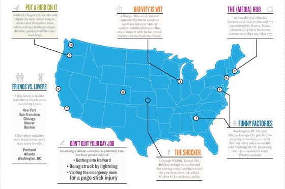 Funny United States Map.Do You Live In The Funniest City In The United States If You Live