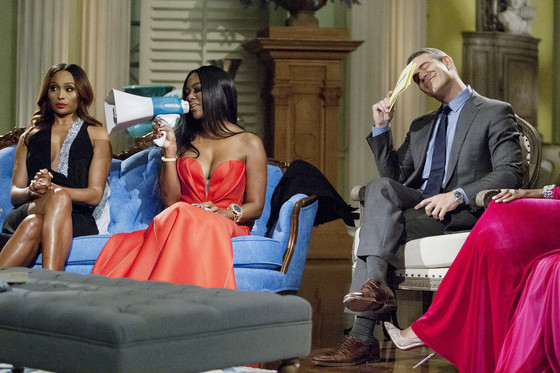THE REAL HOUSEWIVES OF ATLANTA, Cynthia Bailey, Kenya Moore, Andy Cohen