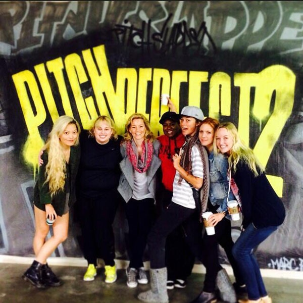 Rebel Wilson, Pitch Perfect 2 Rehearsal, Twit Pic