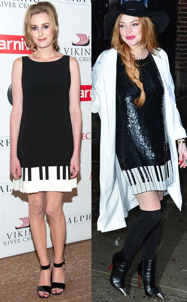 Laura Carmichael, Lindsay Lohan