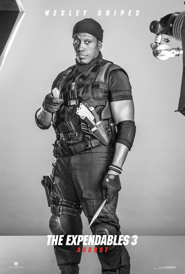 Wesley Snipes, Expendables 3, Poster