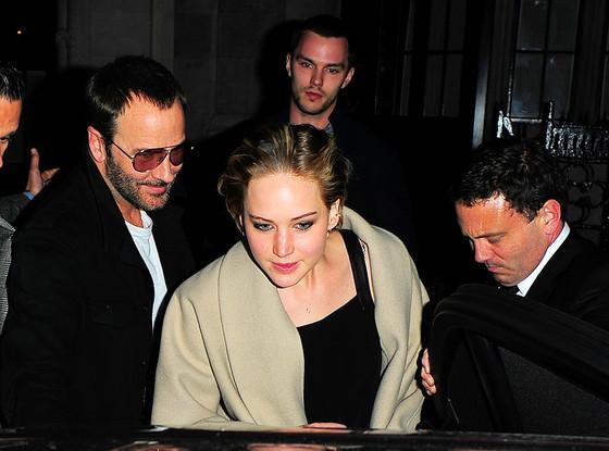 Jennifer Lawrence, Nicolas Hoult, Tom Ford