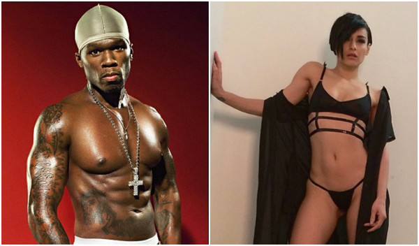 50 Cent processado modelo Sally Ferreira