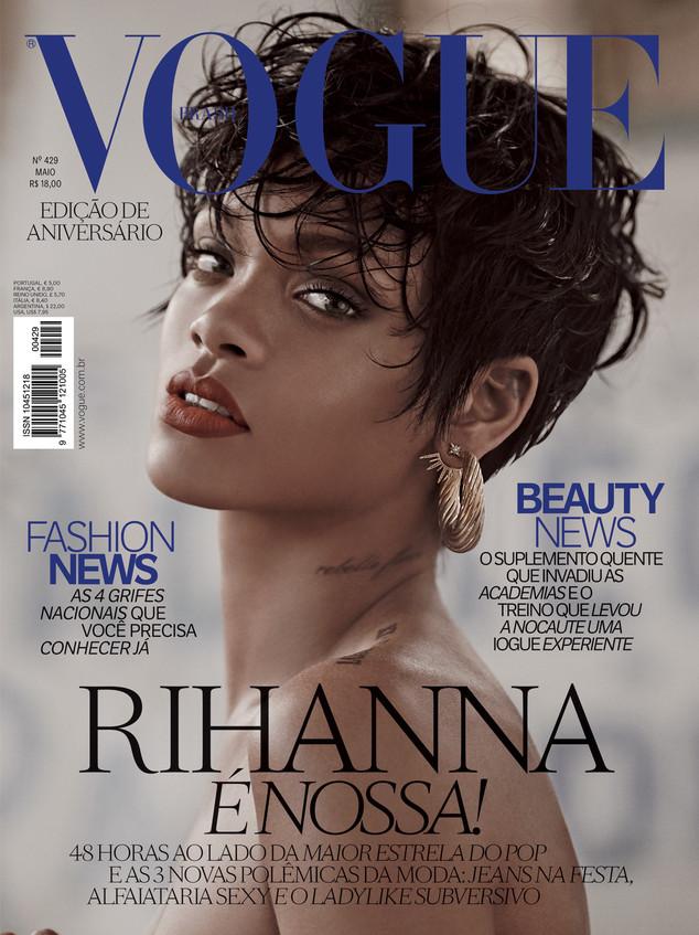 6cfb63c8d8 Rihanna é capa da Vogue Brasil