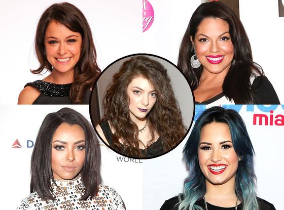 Demi Lovato, Sara Ramirez, Kat Graham, Lorde, Tatiana Maslany