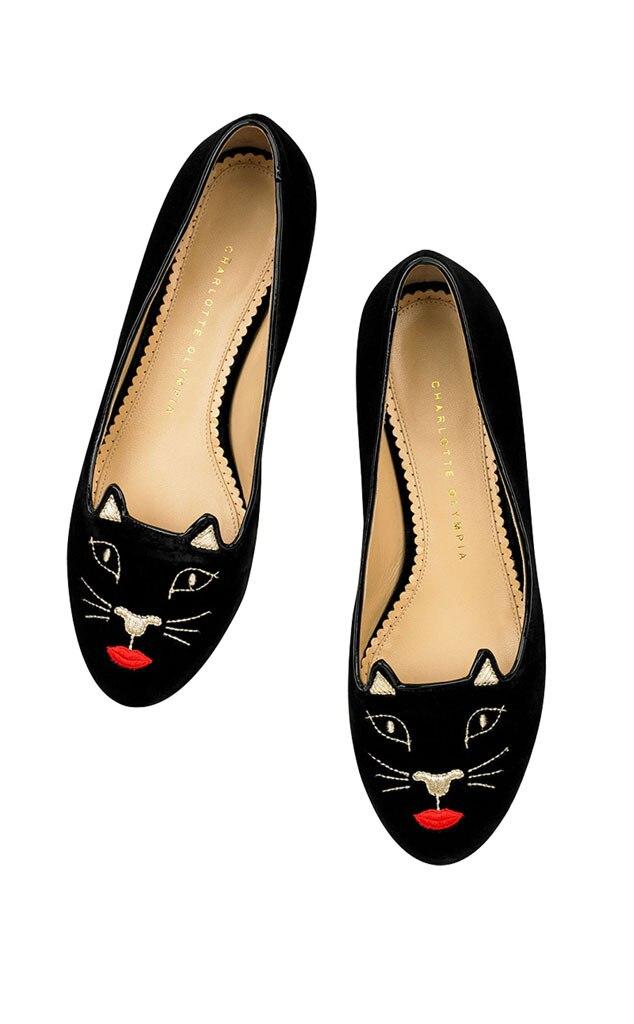 Fabulist Charlotte Olympia, Kiss Me Kitty Velvet Slipper
