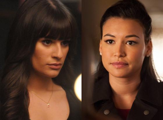 Lea Michele, Naya Rivera, Glee