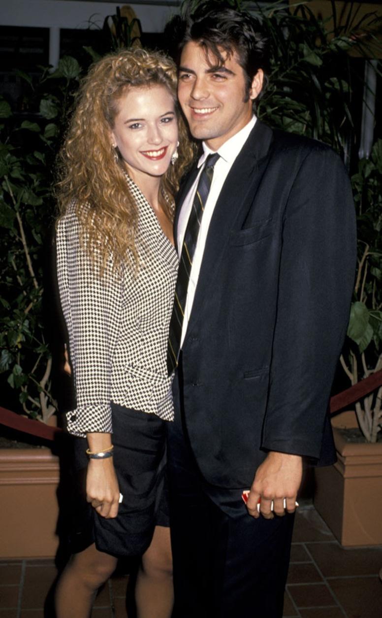 Kelly Preston and George Clooney