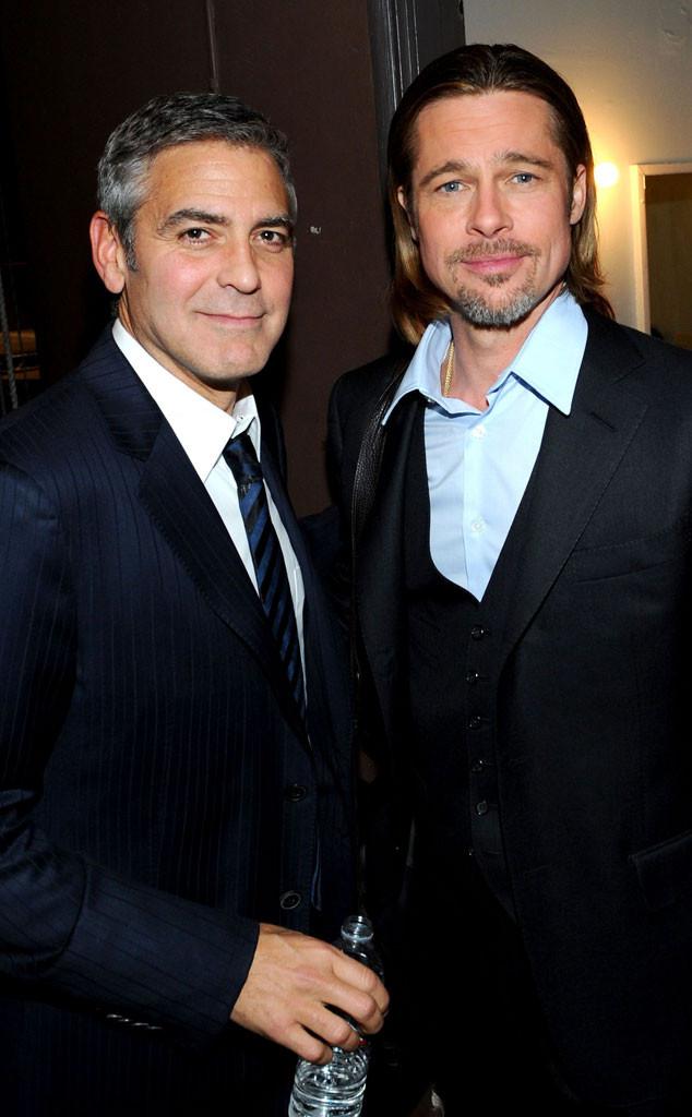 George Clooney diz que pode ser preso por pregar peça em Brad Pitt