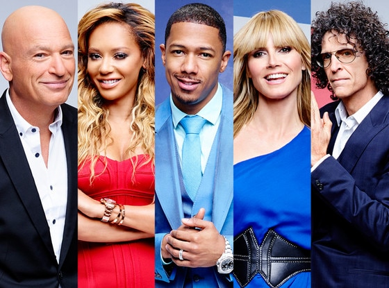 Mel B, Heidi Klum, Nick Cannon, Howard Stern, Howie Mandel, America's Got Talent