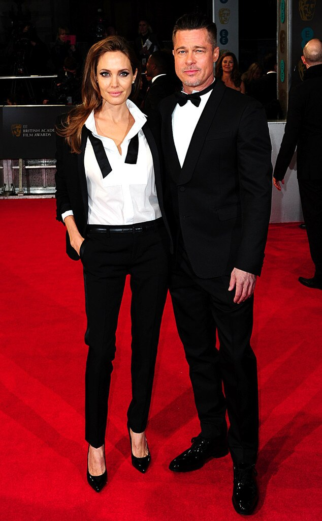 Angelina Jolie and Brad Pitt, BAFTA Film Awards 2014