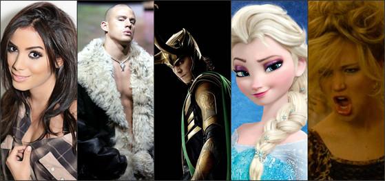 Jennifer Lawrence, Anitta, Channing Tatum, Frozen, Loki