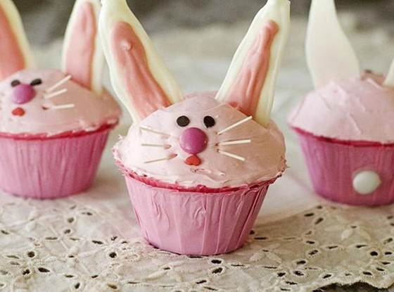 Easter Dinner Recipes, Bunny Cupcakes