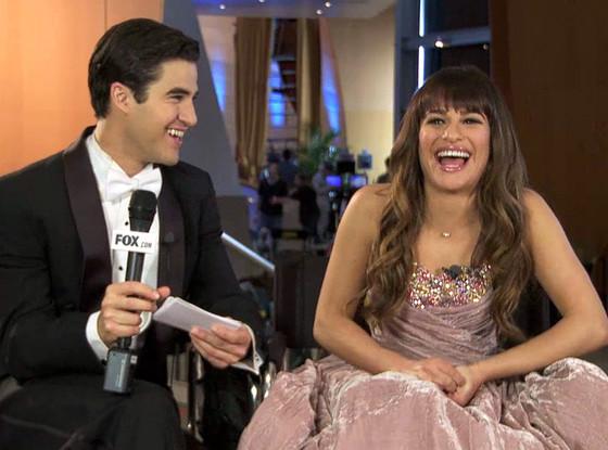 Darren Criss, Lea Michele, Glee