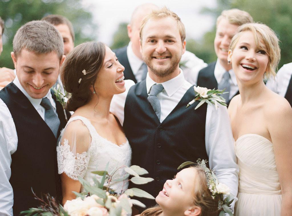 Celebrity Bridesmaids, Jennifer Lawrence, Martha Stewart Weddings