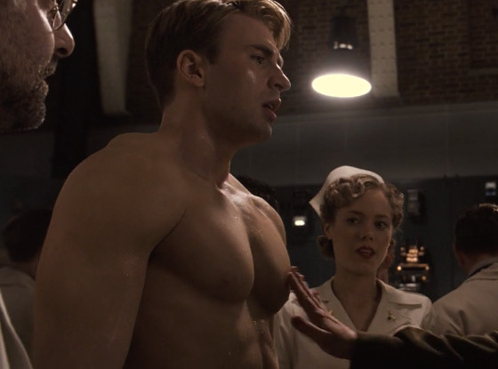 Captain America and All of the Men of Marvel, Shirtless and