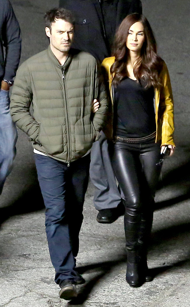 Megan Fox Looks Sexy Post Baby Slips Into Tight Leather