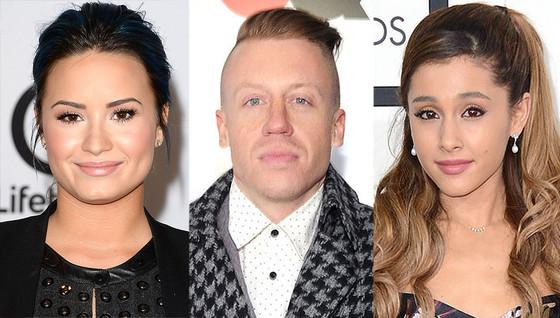 Demi Lovato, Macklemore, Ariana Grande