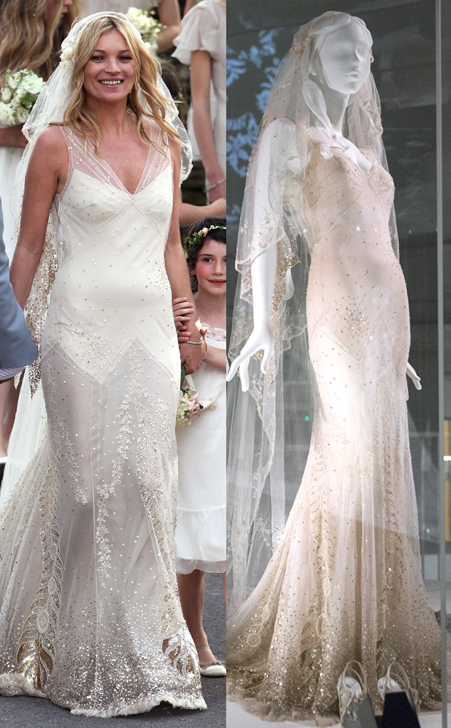 Gwen Stefani S And Kate Moss Wedding Dresses Are On Display At A