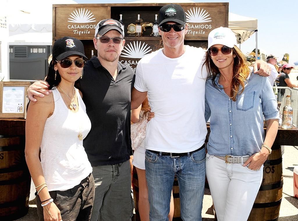Matt Damon, Luciana Barroso, Rande Gerber, Cindy Crawford