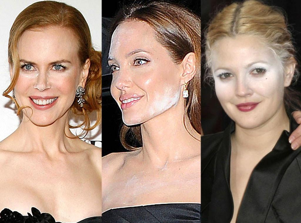 Nicole Kidman, Angelina Jolie, Drew Barrymore, Powder Mishaps