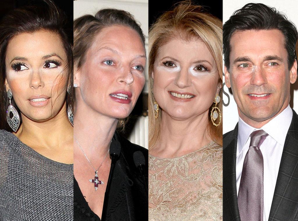 Eva Longoria, Uma Thurman, Arianna Huffington, Jon Hamm, Powder Mishaps