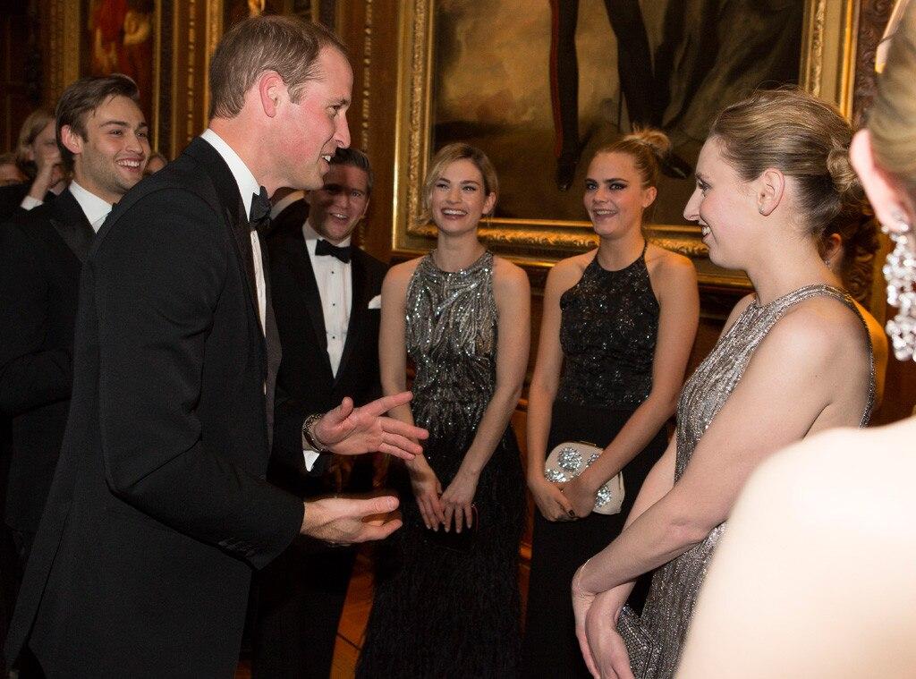 Duke of Cambridge, Prince William, Lily James, Cara Delevingne