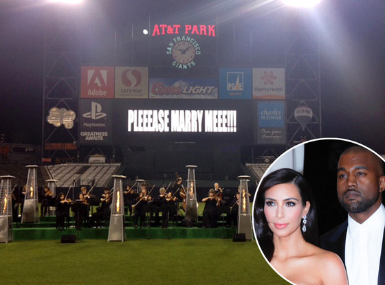 Kim Kardashian, Kanye West, Engagement