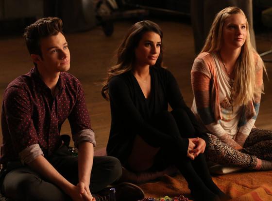 Chris Colfer, Lea Michele, Heather Morris, Glee