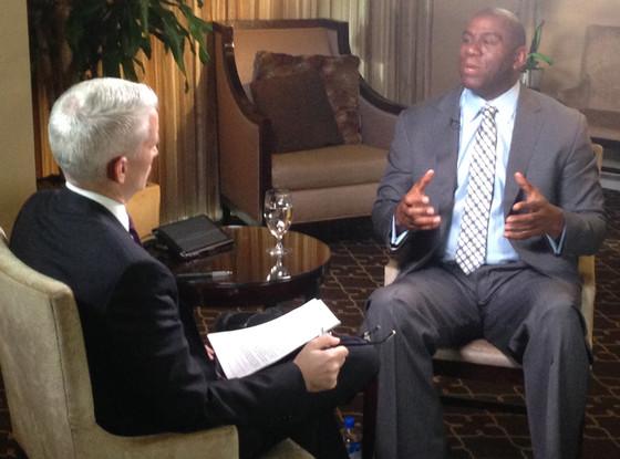 Anderson Cooper, Magic Johnson