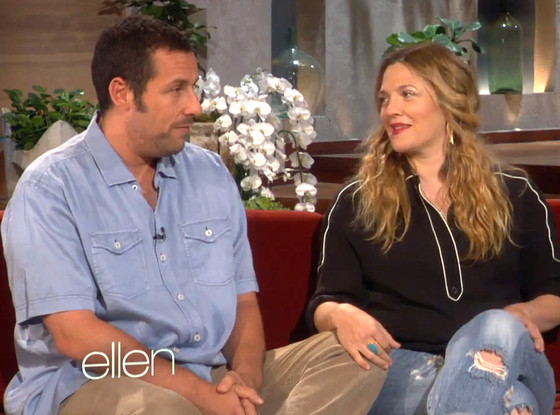 Drew Barrymore, Adam Sandler, Ellen