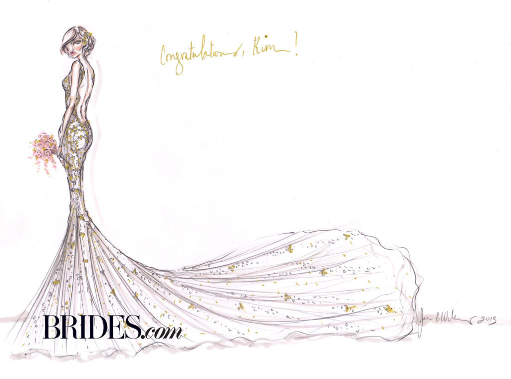Kim Kardashian, Vestidos de noiva