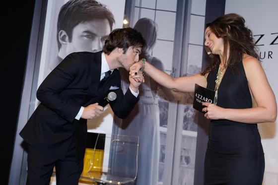 Ian Somerhalder no Brasil para lançamento de perfume