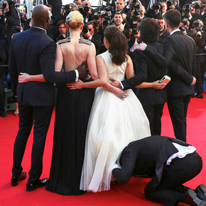 Vitalii Sediuk, America Ferrera, Cannes Film Festival